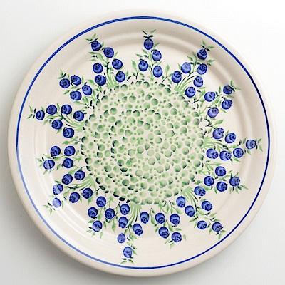 【波蘭陶 Zaklady】 粉紫浪漫系列 圓形餐盤 25cm 波蘭手工製