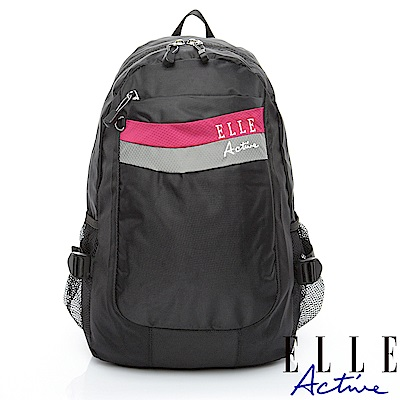 ELLE Active 律動系列-後背包-中-黑色