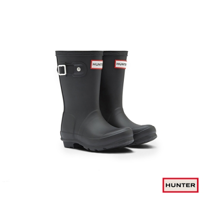 HUNTER - 童鞋 - Original小童低跟霧面短靴 - 黑