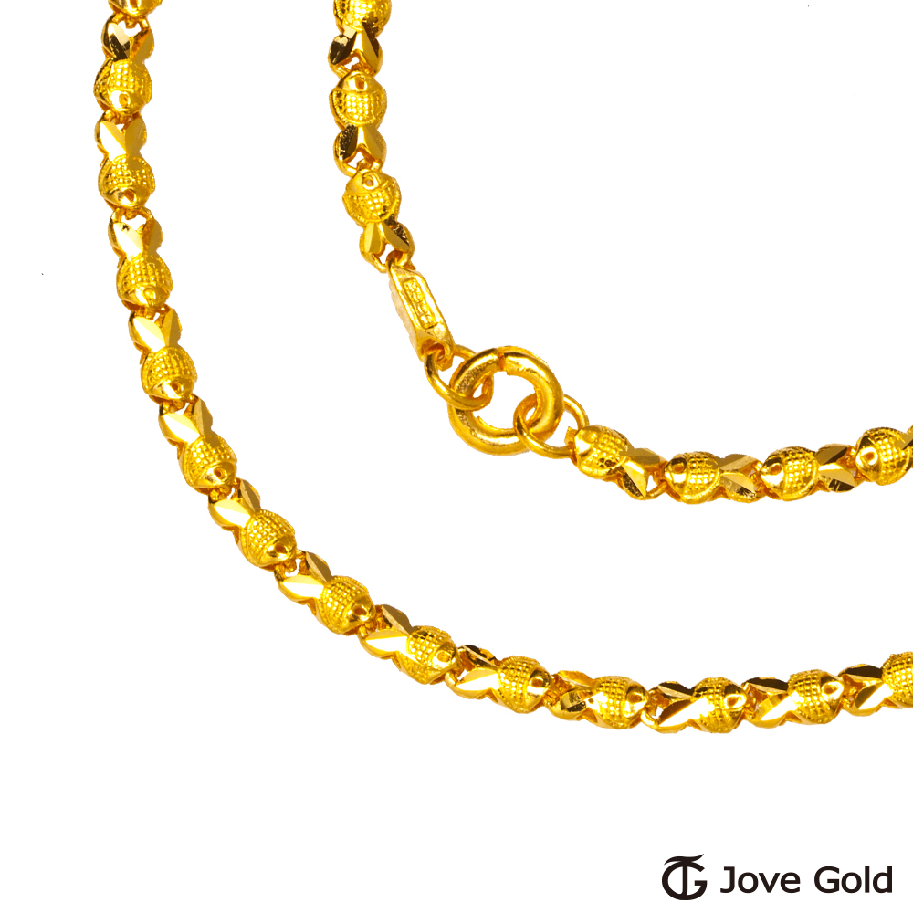Jove gold 日月黃金項鍊(約10.30錢)(約2尺/60cm)