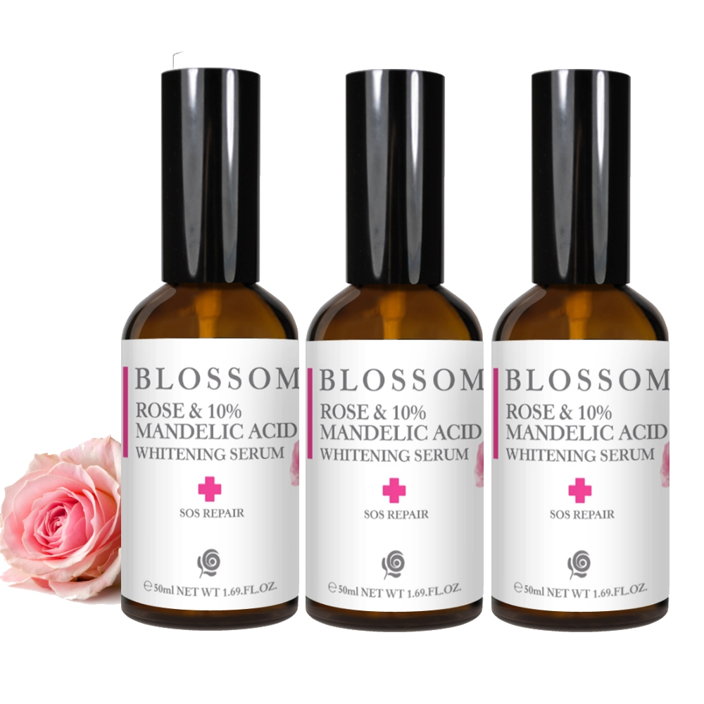 BLOSSOM 玫瑰杏仁酸10%煥膚淨白保濕露(50ML/瓶)*3件組