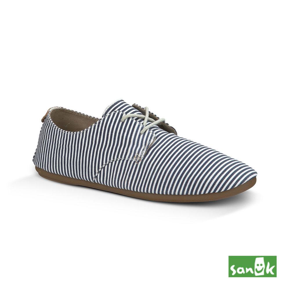 SANUK 海軍風條紋休閒鞋-女款(藍白色)1011492 SBWS