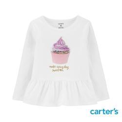 【Carter s】甜甜杯子蛋糕長袖上衣(12M-24M) (台灣總代理)