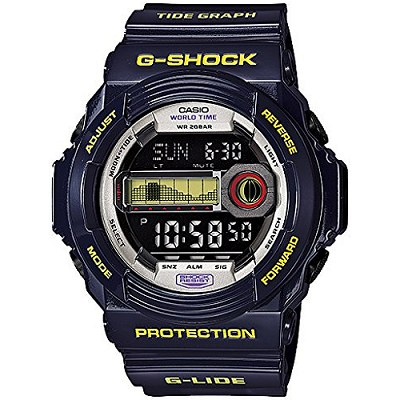 G-SHOCK 潮汐月相運動家男錶-深藍(GLX-150B-6D)/34mm