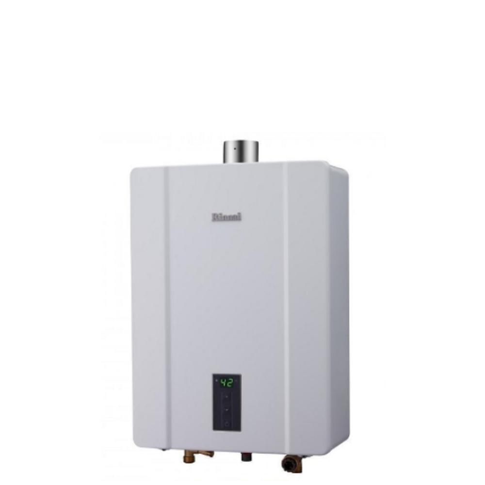 (全省安裝)林內16公升數位恆溫強制排氣屋內(熱水器天然氣(彰化以北)RUA-C1600WF_NG1