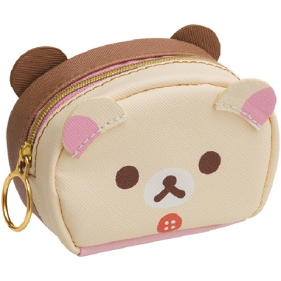 拉拉熊可愛生活系列迷你皮革收納包。懶妹+蜂蜜小熊 San-X
