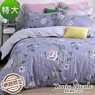 Tonia Nicole東妮寢飾 紫嫣風華100%精梳棉兩用被床包組(特大)