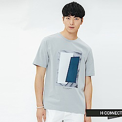 H:CONNECT 韓國品牌 男裝-圖像印字T-shirt-藍