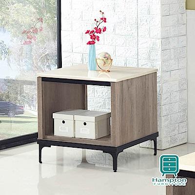 漢妮Hampton奈哲爾系列古橡木色幻影米黃石面小茶几-60x60x60cm