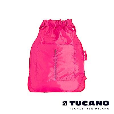 TUCANO COMPATTO 超輕量折疊收納防水束口袋-粉