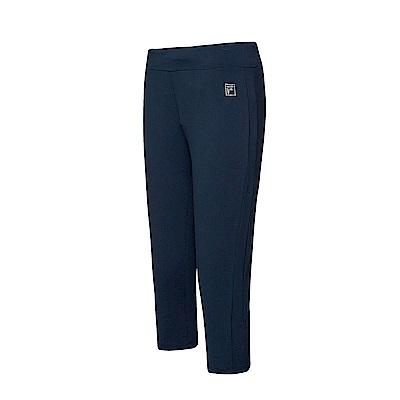 FILA 女款萊卡針織七分褲-深藍 5PNT-1606-DB