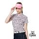 【Lynx Golf】女款吸濕排汗抗UV純棉雙絲光水玉印花短袖POLO衫-白色 product thumbnail 2