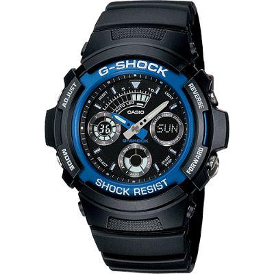 G-SHOCK 標準指針數位雙重顯示手錶-藍(AW-591-2A)/27mm