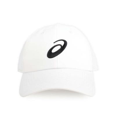 ASICS 慢跑帽 白黑