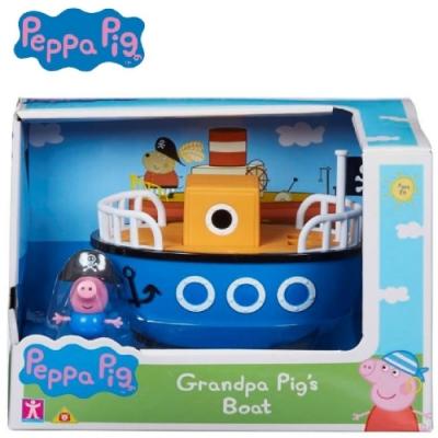 粉紅豬小妹 交通工具組系列-爺爺豬的船 內含喬治公仔 PEPPA PIG