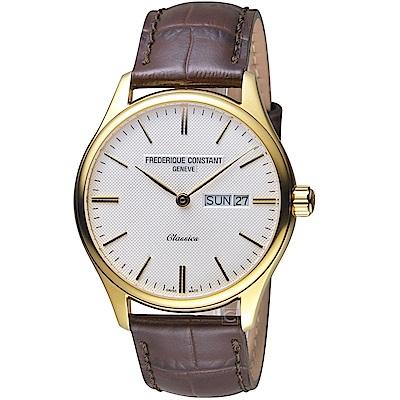 康斯登CONSTANT經典日期紳士腕錶(FC-225ST5B5)