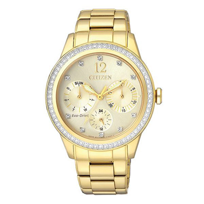 CITIZEN 星辰 L 光動能晶彩夢境時尚腕錶(FD2012-52P)/36mm