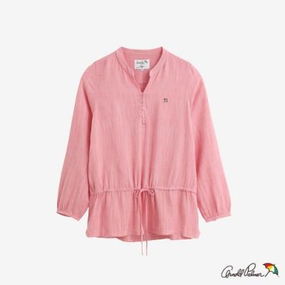 Arnold Palmer-女裝-LINEN RAYON腰部內抽繩襯衫-粉