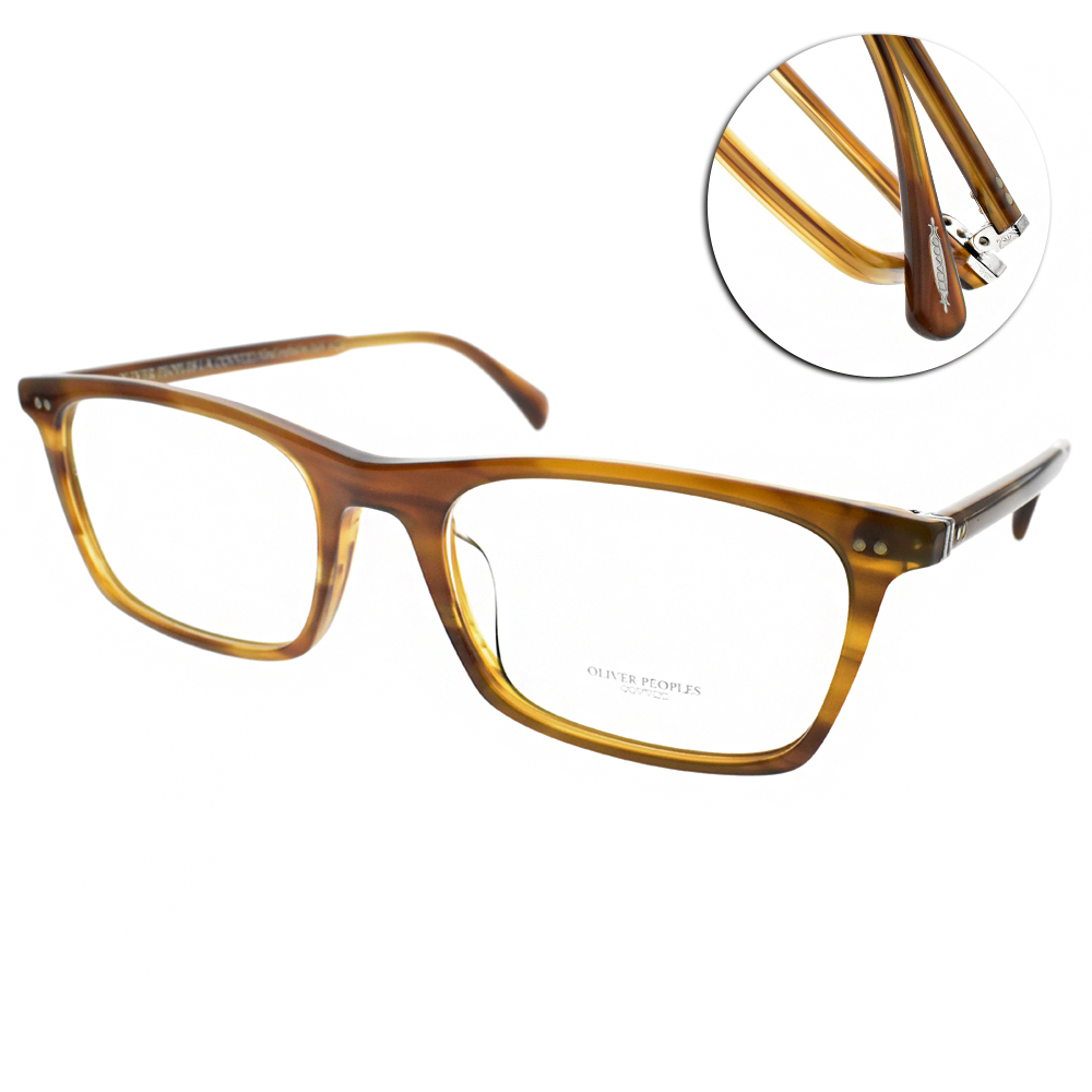 OLIVER PEOPLES眼鏡 復古經典/棕 #TERIL 1011