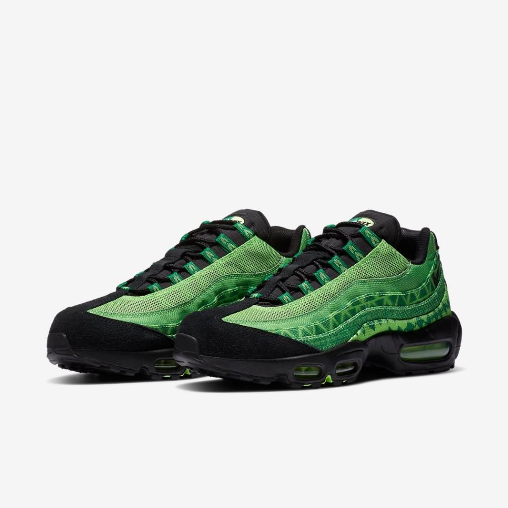 Nike 休閒鞋 Air Max 95 CTRY 運動 男女鞋 氣墊 舒適 避震 簡約 球鞋 情侶穿搭 綠 黑 CW2360300