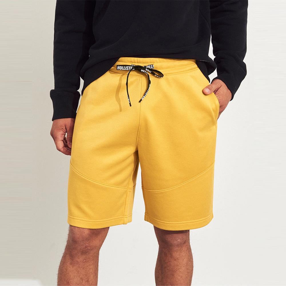 海鷗 Hollister HCO 經典標誌短棉褲-黃色
