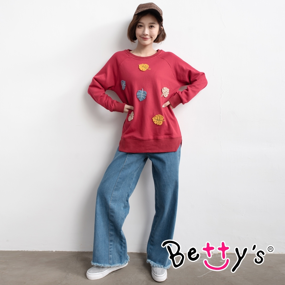 betty's貝蒂思 復古大直筒牛仔褲(牛仔藍)