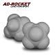 AD-ROCKET 六角反應訓練球(兩入組)(灰色) product thumbnail 1