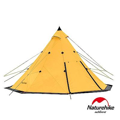 Naturehike 金字塔八角雙層帳篷 印地安露營帳3-4人 藤黃色-急