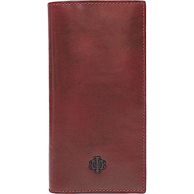 OBBI LAI 深紅色牛皮長夾皮夾錢包