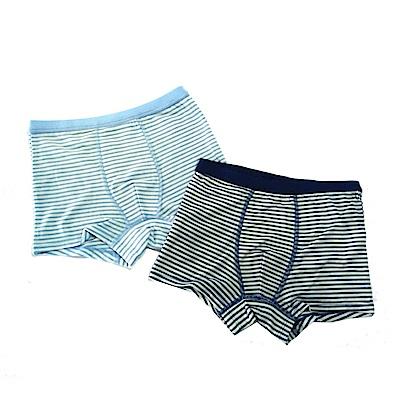 皮爾卡登 男兒童彈力條紋平口褲-混色4件組(137001-1)