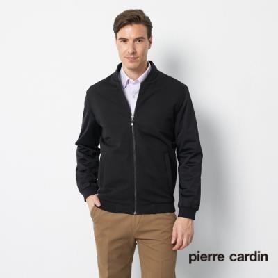 Pierre Cardin皮爾卡登 男裝 雙層球衣領鋪棉夾克外套-黑色(5175703-99)