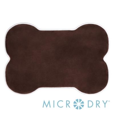 Microdry 舒適記憶綿造型浴墊【巧克力/ L】