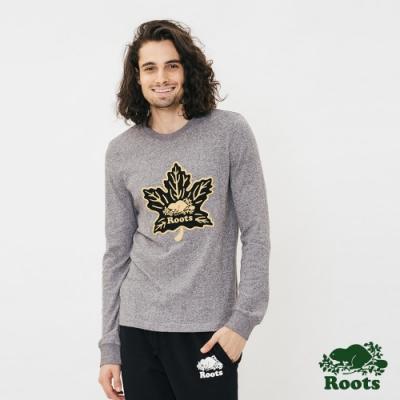 ROOTS男裝-周年系列楓葉長袖T恤-灰色