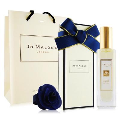 Jo Malone 苦橙香水30ml[含外盒+緞帶+提袋]+午夜藍玫瑰花飾