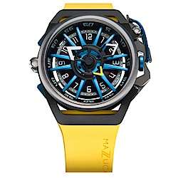 MAZZUCATO RIM高工藝義式美學翻轉機械石英腕錶/06-YL654