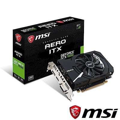 MSI微星 GeForce GTX 1050 AERO 3G OC 顯示卡