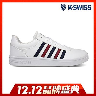 K-SWISS Court Cheswick S休閒運動鞋-男-白/藍/紅