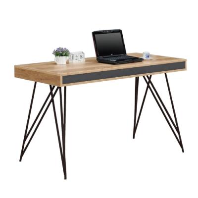 文創集 安娜蘇 現代4尺開放式書桌/電腦桌(二色可選)-120x60x74cm免組