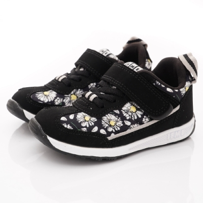 IFME健康機能鞋 印花皮質運動鞋款 NI70801黑(中小童段)