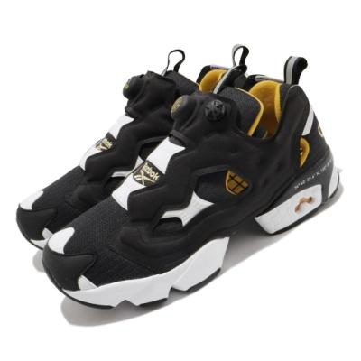Reebok 休閒鞋 Instapump Fury 運動 男女鞋 經典款 充氣科技 舒適 避震 情侶穿搭 黑 白 FW4754