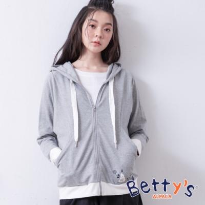 betty's貝蒂思 休閒風純色連帽外套(灰色)