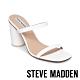 STEVE MADDEN-KATO 特色圓柱壓紋粗高跟拖鞋-白色 product thumbnail 1
