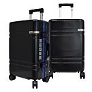 FILA 20吋碳纖維飾紋2代系列鋁框行李箱-墨黑藍