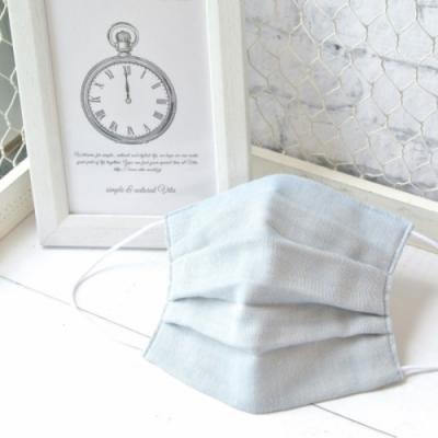 TEMARIYA 日本製 可水洗手作立體口罩M(素色)-淺藍