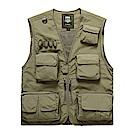 PUSH!戶外休閒用品多功能15口袋背心夾克攝影背心F25