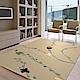 范登伯格 - 香榭 進口仿羊毛地毯 - 梅花 (棕 - 160 x 230cm) product thumbnail 1