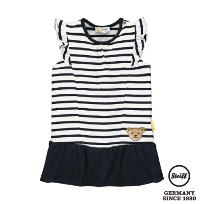 STEIFF德國精品童裝  條紋荷葉袖洋裝(無袖洋裝)