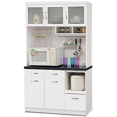 凱曼 黛芙妮4尺石面餐櫃收納櫃(上+下座)