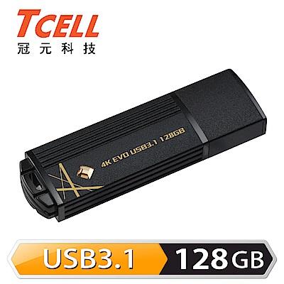 TCELL冠元-USB3.1 128GB 4K EVO 璀璨黑金隨身碟