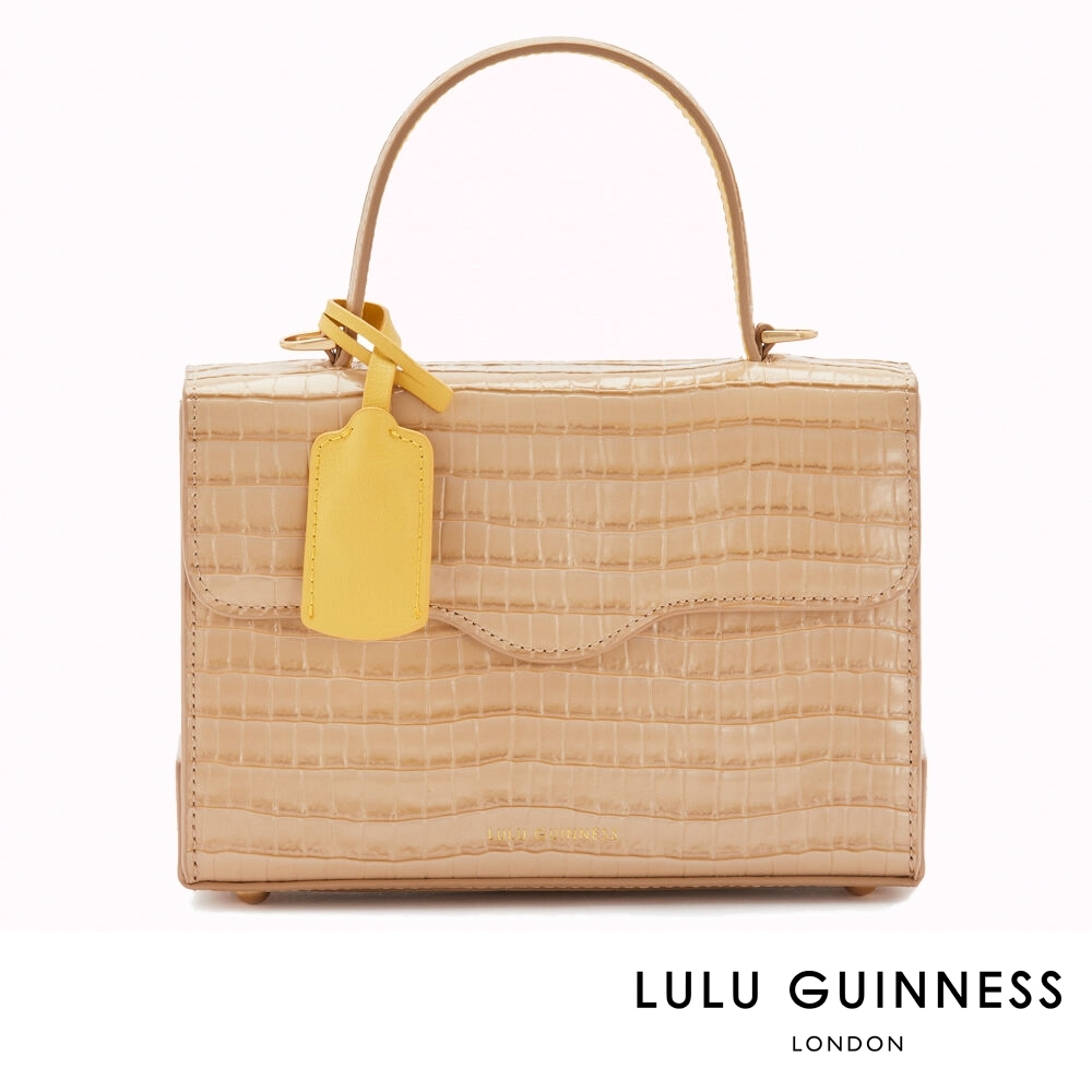 LULU GUINNESS QUEENIE 側背包 (杏仁棕)